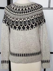 Artisan NY gray/black, fair isle/ nordic sweater